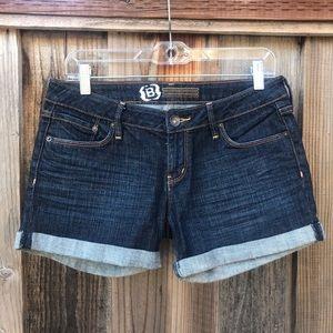 Bullhead Dark Wash Junior's  Denim shorts
